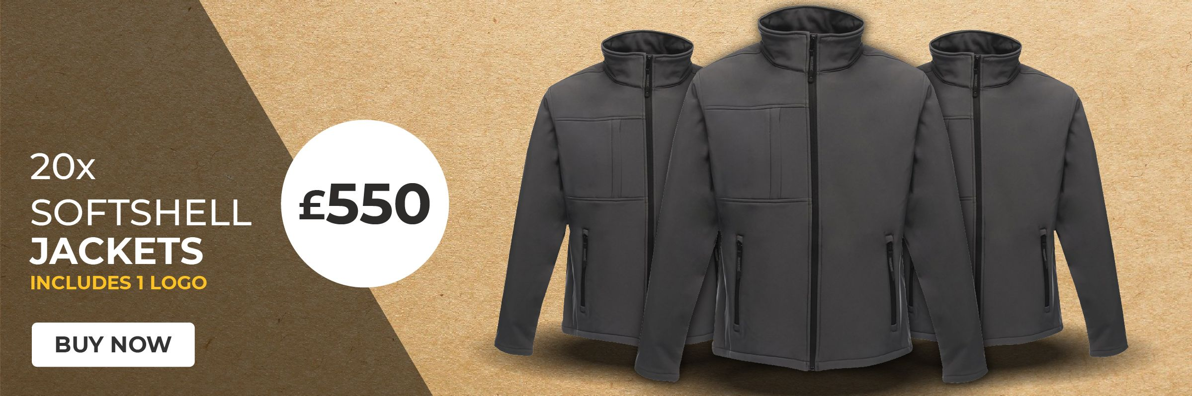 20 x Softshell Jackets for £550