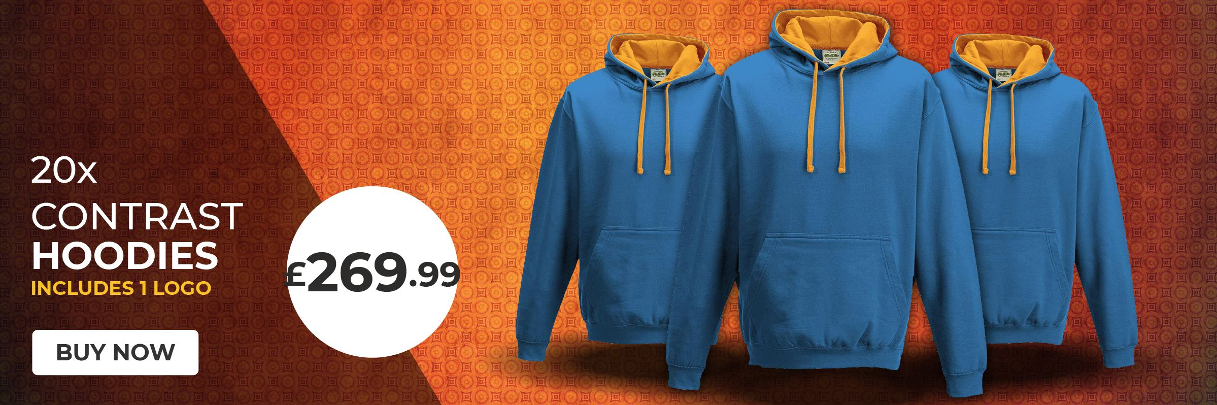 20 x Contrast Hoodies for £269.99